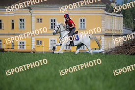 Zsófia HABSBURG-LOTHRINGEN (HUN) and RÁDIHÁZA ALFA during National Qualifier Eventing Competition, cross country, 2018 April ...