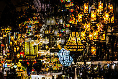 Beautiful lamps and light fittings, Grand Bazaar, Istanbul