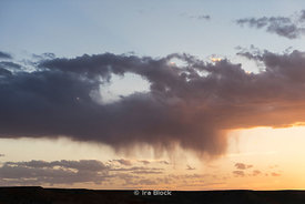 Rain clouds near the Flaming Cliffs, Bayanzag, in the south Gobi desert, Mongolia.