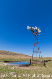 Iconic Windmill in the Nebraska Sandhills