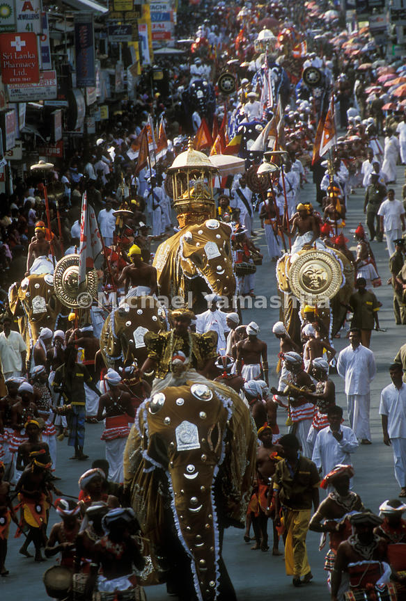 The Perahera Festival in Kandy, Sri Lanka. August 2004.