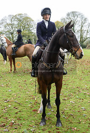 Isobel McEuen at the meet. The Cottesmore Hunt at Somerby
