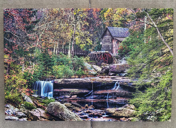 Glade Creek Grist Mill & Falls 16x24