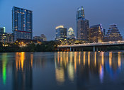 Austin Skyline Reflected in the Colorado River