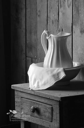 Pitcher  on the Night  Stand (Black & White)