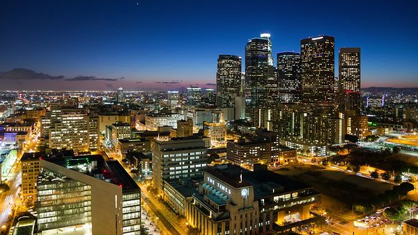 Bird's Eye: Crystal Sunset, Neon Horizon, & The Constant Bustle Of Downtown L.A.