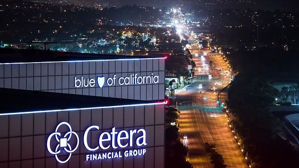 Wide Foreground Shot of an Active Sepulveda Blvd at Night