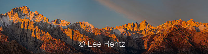 Panorama including Mount Whitney and Lone Pine Peak
