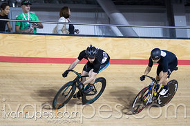 Master A Men Sprint 1/2 Final. Canadian Track Championships, Mattamy National Cycling Centre, Milton, On, September 25, 2016