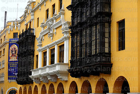 Facade of Union Club building, Lima, Peru