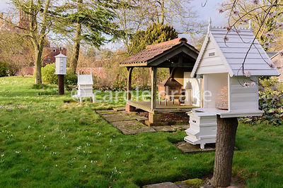 Victorian style apiary. Hodsock Priory, Blyth, Notts