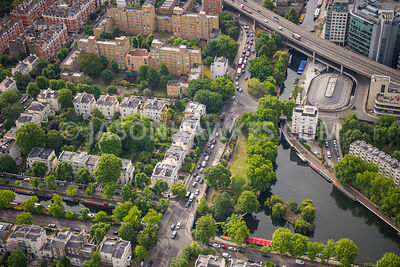 Aerial view of London, Little Venice