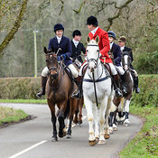 The Cottesmore Hunt at Little Dalby Hall 5/2