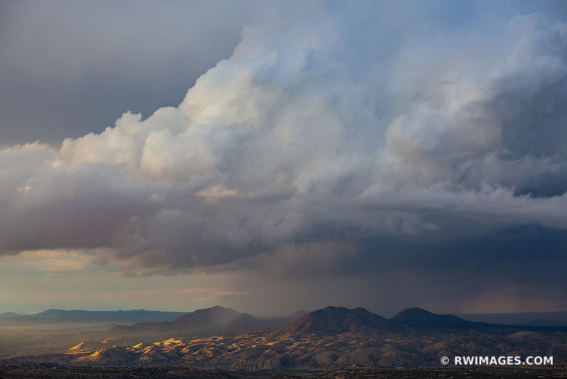 STORMY CLOUDS SUNSET ENCHANTING LIGHT NORTHERN NEW MEXICO LANDSCAPE NORTHERN NEW MEXICO COLOR
