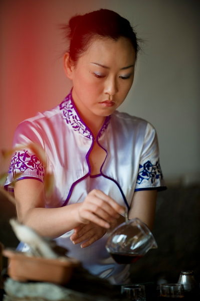 Making Pu'er tea