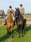 at the meet - The Cottesmore Hunt at Stone Lodge Farm 24/1