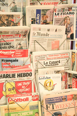 International newspapers, Paris, France