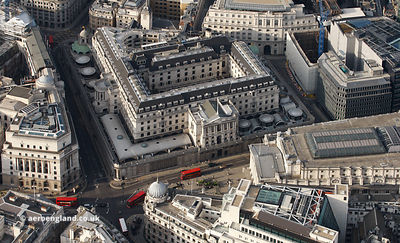 the Bank of England Threadneedle Street London  from the air