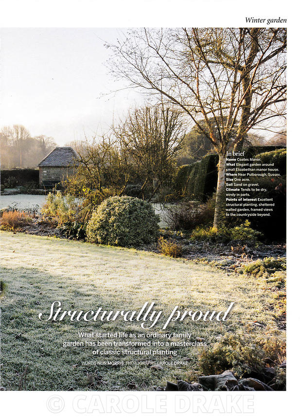 Coates Manor, Gardens Illustrated, December 2013