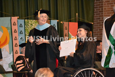 Disabled college graduate with mother