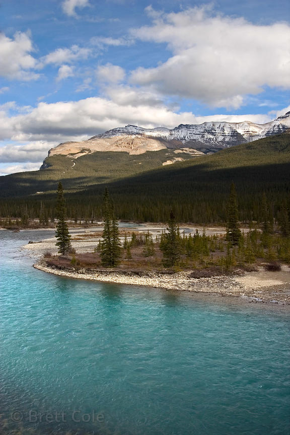 The North Saskatchewan River, Banff National Park, Canadian Rockies.