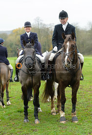 Nicky Hanbury, PC at the meet - The Cottesmore Hunt at Manor Farm