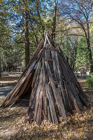 Cedar Bark House Typical of those Used by Miwok People in Yosemite Valley