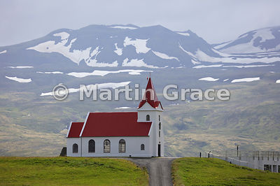 Church at Ingjaldsholl (1903), Road 574, Snaefellsnes, Vesturland (Western Region), Iceland