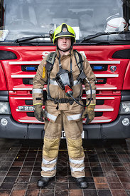 Firefighter Sean Marshall. Marionville Fire Station
