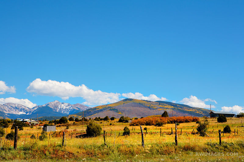 FALL COLORS RANCH IN THE MOUNTAINS TRUCHAS NEW MEXICO