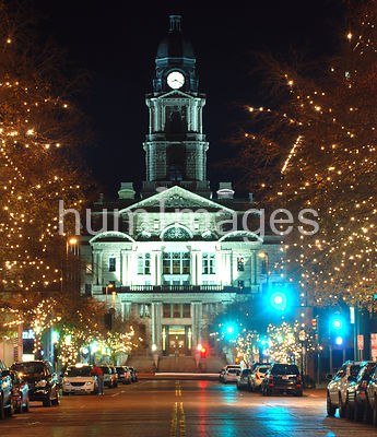 Tarrant County Courthouse in Ft. Worth, Texas at Christmas time