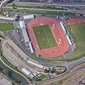 Aerial View Of The Warm Up Venue, London