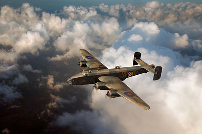 Handley Page Halifax B III above clouds