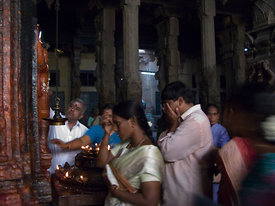 Devotees at the Sundaresvar Shrine, Sri Meenakshi Temple