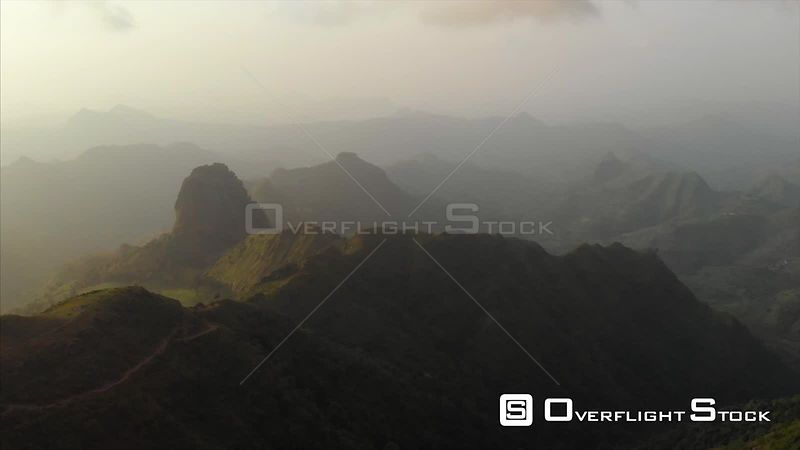 Mountains in and Mist Ethiopia