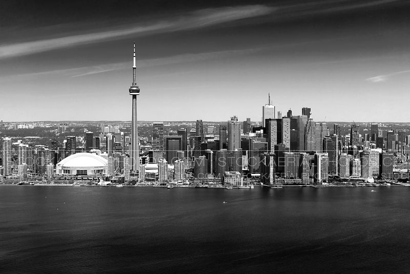 Toronto Skyline - Black and White