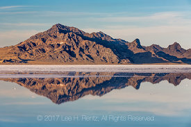 Silver Island Mountains Reflecting in the Bonneville Salt Flats
