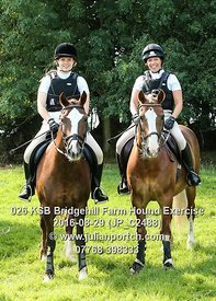 2016-08-29 KSB Bridgehill Farm Hound Exercise