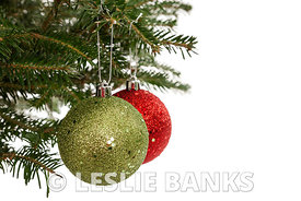 Red and Green Christmas Ornaments
