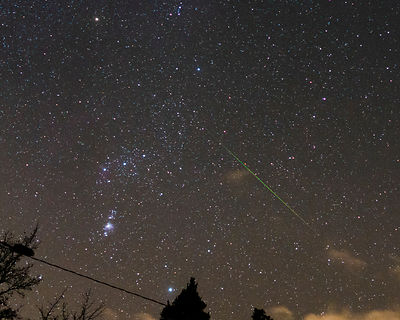 Lone Orionid meteor in Southern Finland on Oct 21 2018.