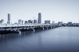Boston Skyline Harvard Bridge Back Bay Photo