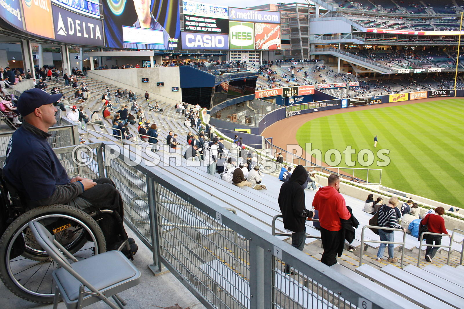 Man in wheelchair at Stadium