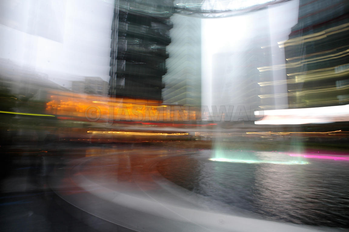 Blurred City Buildings
