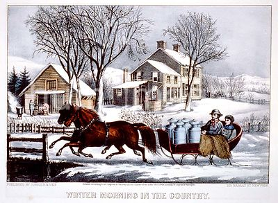 Winter morning in the country Currier and Ives ca 1873