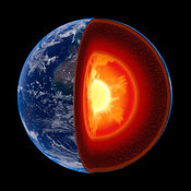 Earth inside core structure to geological scale - isolated