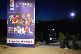 the Final Tournament - Final Four - SEHA - Gazprom league, team arrival in Varazdin, Croatia, 30.03.2016, ..Mandatory Credit ...