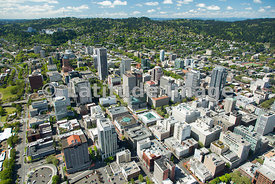 downtown skyline; Portland, Oregon