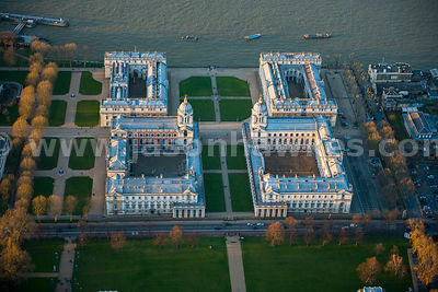 Aerial view of The Old Royal Naval College, Greenwich, London