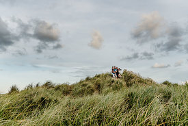 Danish family in dunes by Klitmøller