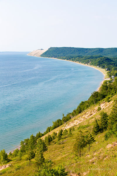 LAKE MICHIGAN EMPIRE BLUFF TRAIL SLEEPING BEAR DUNES MICHIGAN COLOR